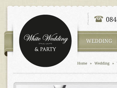 Wedding Ribbon Navigation ribbon paper wedding website ecommerce texture
