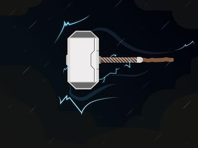 Mjolnir Thor Hammer illustrator fanart marvel commic thor wallpaper illustration graphicdesign design background