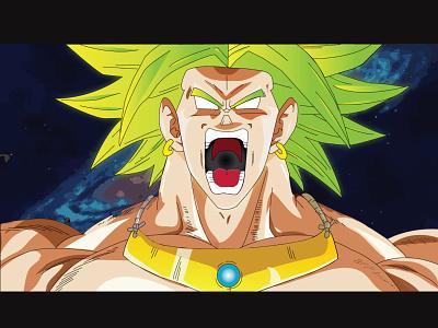 Dragon Ball Super: Broly !!! illustrator fanart anime art character wallpaper illustration graphicdesign design background