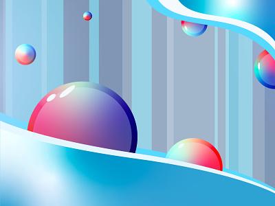 Air bubble graphic art illustrator color wallpaper graphicdesign design background