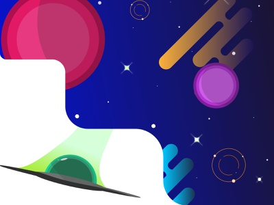 It's time to explore the new galaxy !! color galaxy planet art illustration art space illustrator illustration wallpaper graphicdesign design background