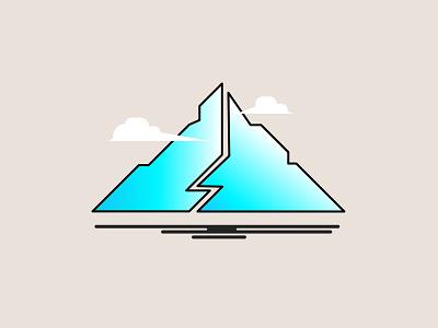 LOGO  Mountain illustrator art logo wallpaper illustration graphicdesign design background