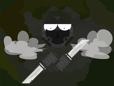 Am from shadow art hunter illustrator wallpaper character illustration graphicdesign design background