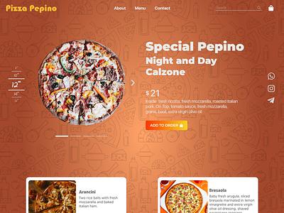 Pizza - Web Page webdesign food pizza illustration design web graphic design ui