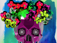 Day of the Dead - over saturated