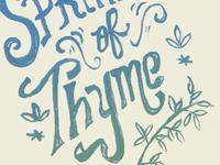 Sprinkle of Thyme