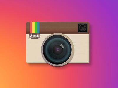 Instagram Classic Logo illustration design branding app design app logo design logos instagram post logo instagram