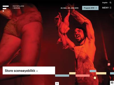 Bergen International Festival website design