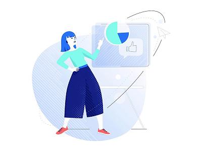 Proof of concept illustration communication business vector illustration