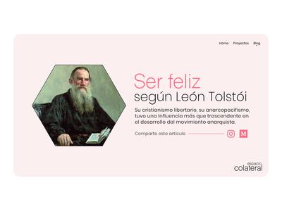 Concept Blog Espacio Colateral illustration app web ux ui