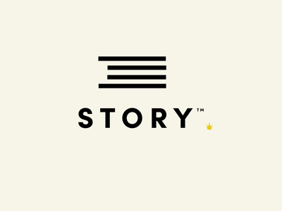 Story branding green icon minimal illustration iconography flat design reveal logo animation