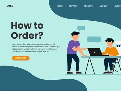 How to Order webdesign web ux ui minimal illustration flat design