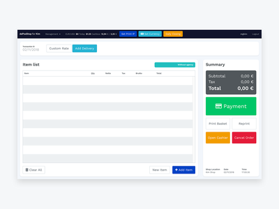 [WIP] Web POS for Shop