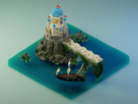 The Watchtower blender3d 3d lowpoly