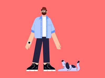 Characters dog dribbble animation illustrator characters design illustration character