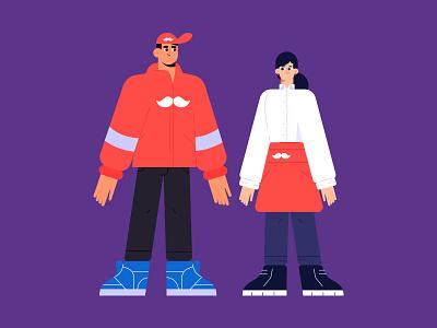 Characters Rappi characterdesign rappi dribbble animation illustrator characters design illustration character