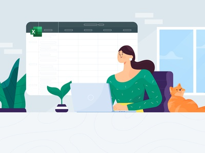Daily Standup Excel geekbot dribbble illustrator characters design illustration character