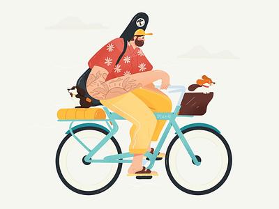 Mar, Illustration pet cycle mar dog dribbble illustrator characters design illustration character
