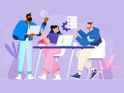 Teamwork teamwork characterdesign animation illustrator characters design illustration character