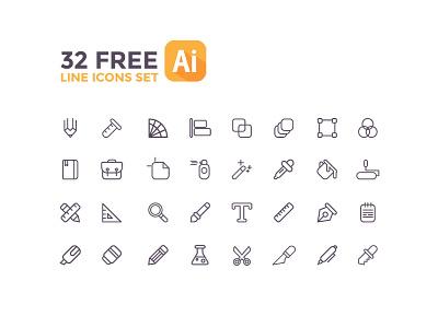 Line icons free! icons