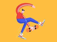 Letter G- skate tricks 36daysoftype