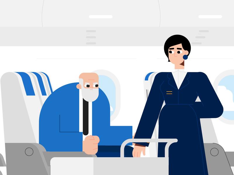Air Shopping-Illustration 02 vector minimal dribbble animation illustrator characters design illustration character