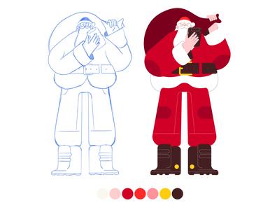 Santa Clous 02 dribbble illustrator characters design illustration character