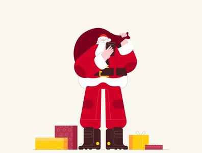 Character Santa Clous 02 santaclaus christmas dribbble illustrator characters design illustration character