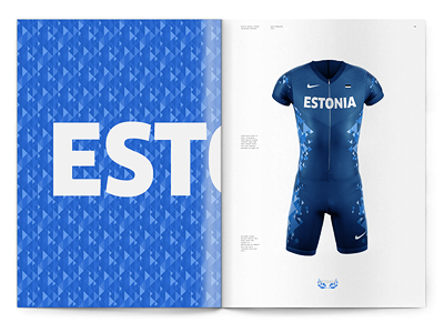 Estonia Olympic Uniform sport olympics uniform clothing nike design country identity design language