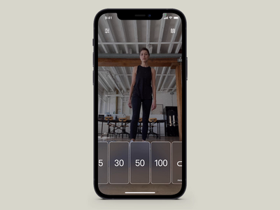 x100 - Exercise Mode athlete product design action interface free ios fitness workout sport interactive ui app animation design