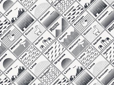 Postcard from Peru graphic design locations peru stamp travel vector