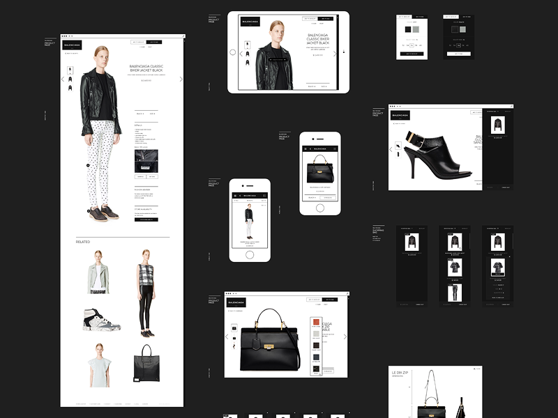 Balenciaga minimal black and white e-store online shopping alexander wang brand clothing balenciaga design fashion