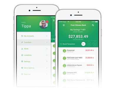 First Citizens Bank - Mobile App Redesign finance mobile app mobile bank