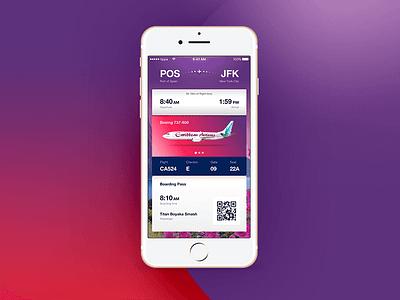 Caribben Airlines Mobile App mobile app airline ticketing app