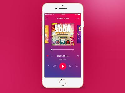 Music Player mobile app music player ui ios music