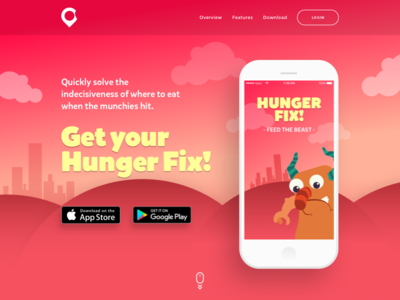 Hunger Fix Landing Page landing page ui web website dailyui 003