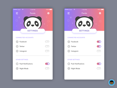 Mobile App Settings mobile app mobile ios settings 007 dailyui