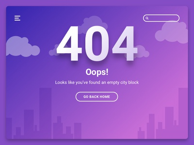 404 Page 404 page website webdesign ux ui interface dailyui 008