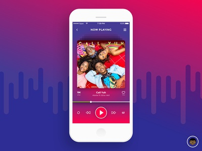 Music Player 009 music player sketch ux ui mobile dailyui ios