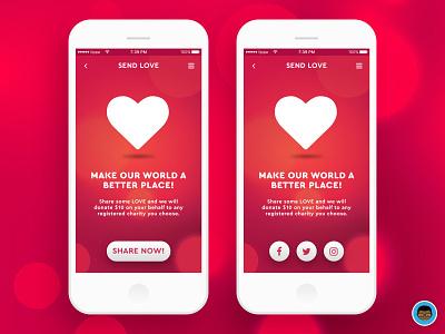 Social Share App Concept mobile app ios dailyui mobile ui ux sketch share 010