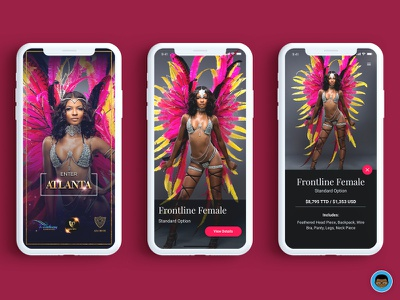 Trinidad Carnival Band Section mobile app mobile app carnival trinidad iphonex ux ui ios