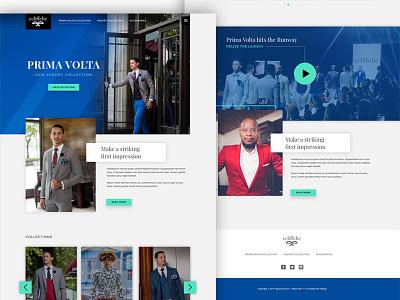 Fashion Landing Page Concept landing page dailyui ui ux fashion