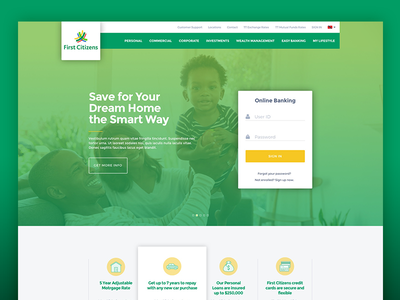 Bank Landing Page concept landing page bank finance ux ui website