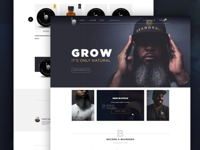 Beardrens Website graphic design web design ecommerce store ux ui