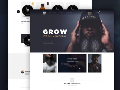 Beardrens Website graphic design web design ecommerce store ux ui