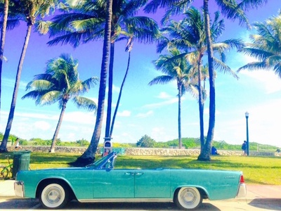 Cruising in Style tbt throwback vintage instagram miami beach teal photoshop photography photo color car