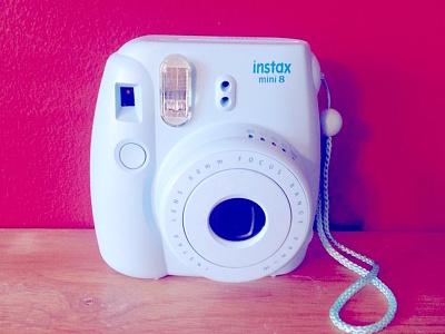 Fuji Instax Mini 8 camera blue picture technology color photos polaroid photography