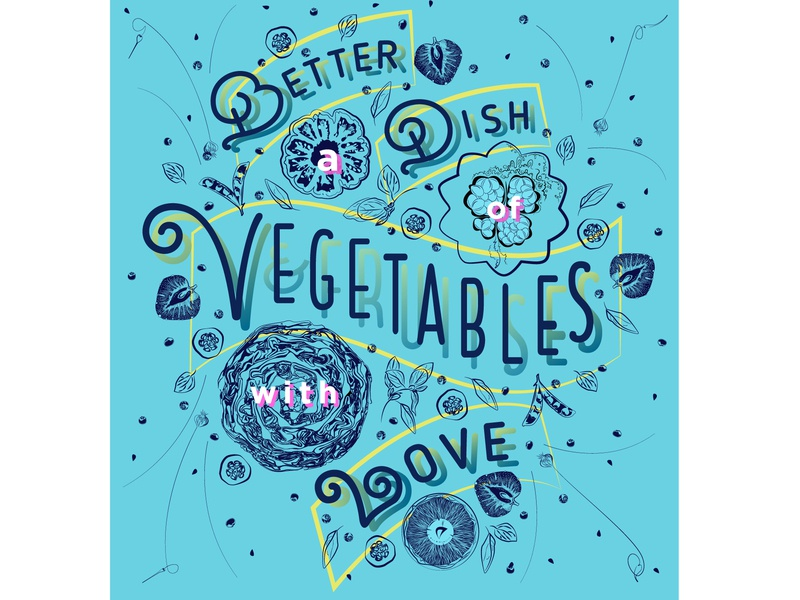 Better A Dish... hand-lettering illustration graphic design