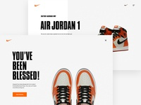 Nike SNKRS Desktop Confirmation Screen