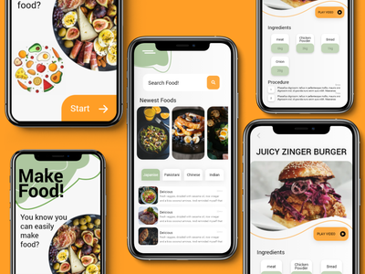 Food App UI mockup design foodie mockup food uiux ios game design dark ui category card apple app design app android